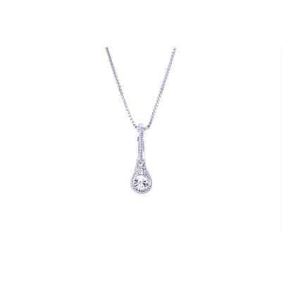 Swarovski Silver Drop Pendant.