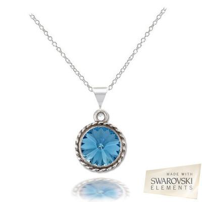 Swarovski® Embellished Rivoli Pendant.