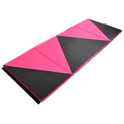"4'x10'x2"" Gym Mat - Pink & Black"