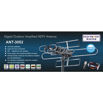 Electronic Master Remote Controlled HDTV Antenna (ANT3052)