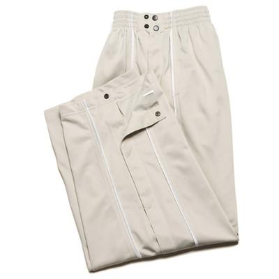 JJB Men's Athletic Tear Away Warm-Up Pants - Silver