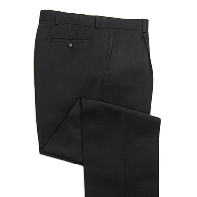 Knightsbridge Super 100's Wool Comfort Pants - 1 Pleat - Black