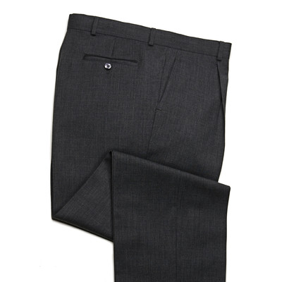 Knightsbridge Super 100's Wool Comfort Pants - 1 Pleat - Grey