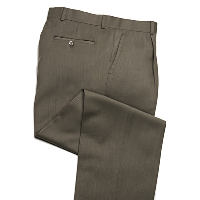 Knightsbridge Super 100's Wool Comfort Pants - 1 Pleat - Khaki
