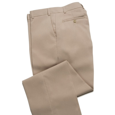 Haband Wrinkle Resistant Men's Dress Pant - Flat Front - Beige