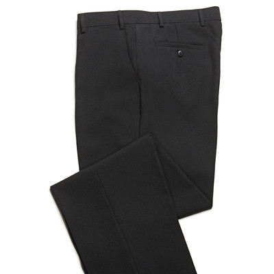 Haband Wrinkle Resistant Men's Dress Pant - Flat Front - Black