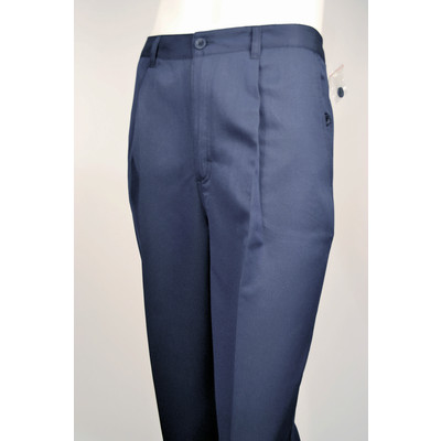 Think Golf Micro Fiber Men's Casual Dress Pants, Single Pleat- Navy