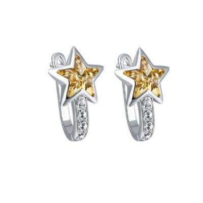 Lumax Swarovski  Embellished Star Earrings