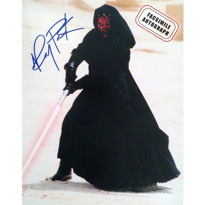 Star Wars Phantom Menace 8x10 - Ray Park as Darth Maul  - Facsimile Autograph