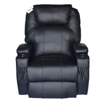 Therapeutic Heated Massage Reclining Chair - Black