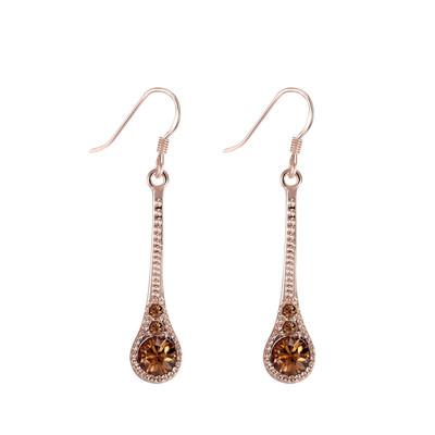 Swarovski Embellished Rose Gold Plated Earrings.
