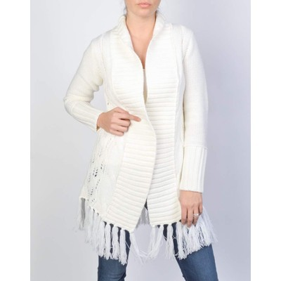 Dex CABLE KNIT OPEN CARDIGAN