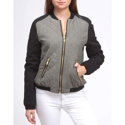 Fate QUILTED COLOURBLOCK BOMBER