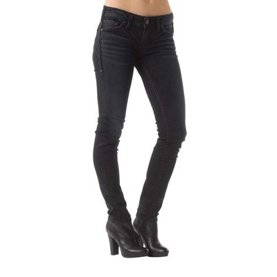 Silver Jeans AIKO MIDRISE SKINNY WITH PU TRIM