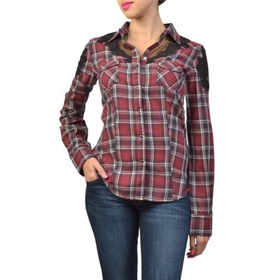 Guess COWGIRL LACE PLAID SHIRT