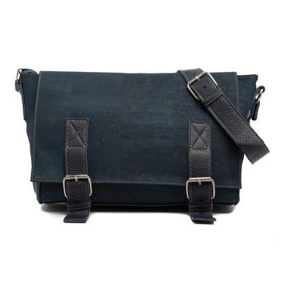 Cork Messenger Bag Brown Cork and Leather - JMAX