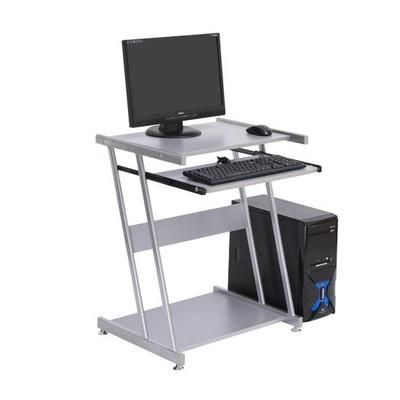 Compact Computer Desk - Silver
