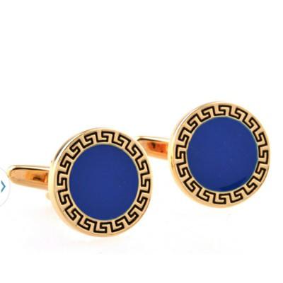 Novelty Gold and Blue Cufflinks