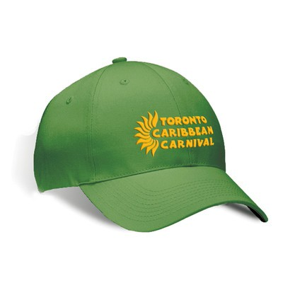 Toronto Caribbean Carnival Brushed Cotton Cap Green Horizontal Logo