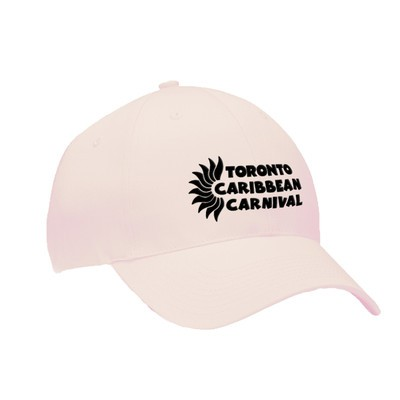 Toronto Caribbean Carnival Brushed Cotton Cap Pink Horizontal Logo