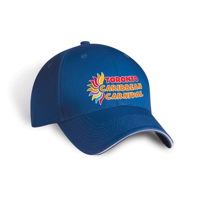 Toronto Caribbean Carnival Brushed Cotton Cap Royal Blue Horizontal Logo