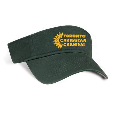 Toronto Caribbean Carnival Cotton Visor Green Horizontal Logo