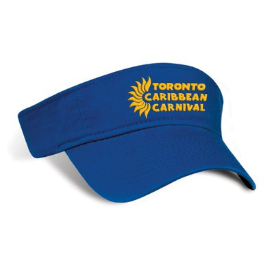 Toronto Caribbean Carnival Cotton Visor Royal Blue Horizontal Logo