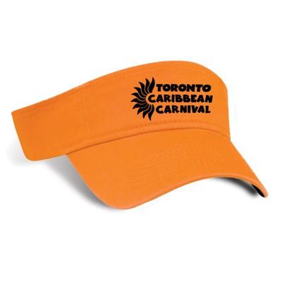 Toronto Caribbean Carnival Cotton Visor Tangerine Horizontal Logo