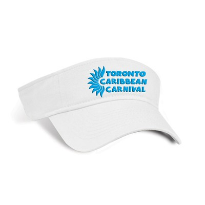 Toronto Caribbean Carnival Cotton Visor White Horizontal Logo