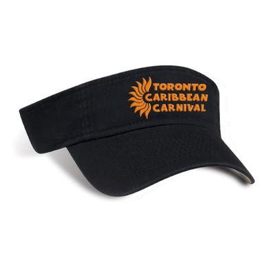 Toronto Caribbean Carnival Cotton Visor Black Horizontal Logo