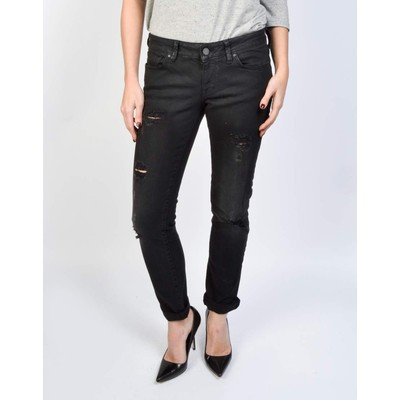 Mavi Jeans EMMA RIPPED BOYFRIEND JEAN IN MIDNIGHT