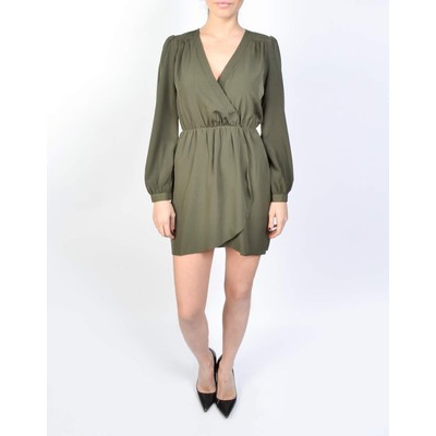 Honey Punch SOLID WRAP DRESS