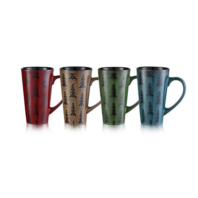 Pine Tree 18oz Mug Set of Four
