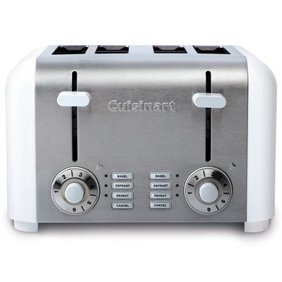 Toaster CPT340WC 4sl compact white/chrome