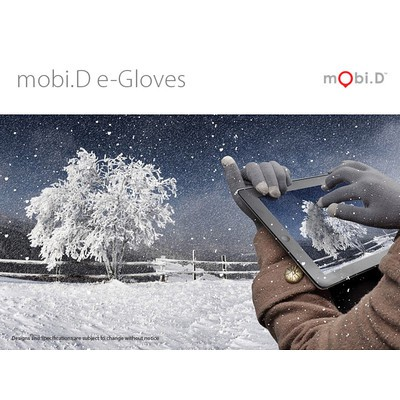 2 x mobi.D e-Gloves (Black)