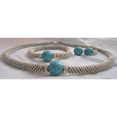 Turquoise Silver Set