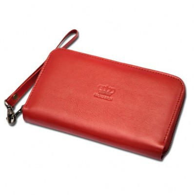 Accordion Ruby Red Large Clutch Wallet
