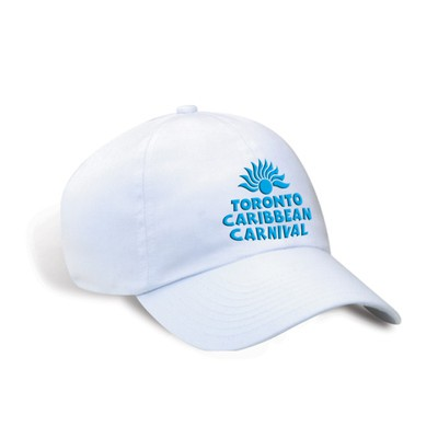 Toronto Caribbean Carnival Unstructured Cotton Cap White Horizontal Logo
