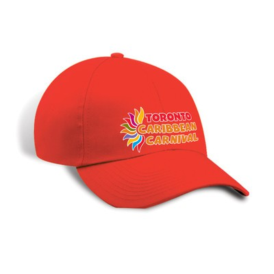 Toronto Caribbean Carnival Unstructured Cotton Cap Red Horizontal Logo
