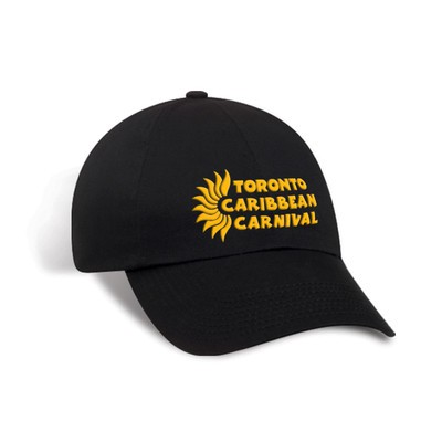Toronto Caribbean Carnival Unstructured Cotton Cap Black Horizontal Logo