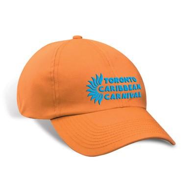 Toronto Caribbean Carnival Unstructured Cotton Cap Tangerine Horizontal Logo