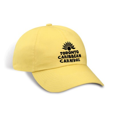 Toronto Caribbean Carnival Unstructured Cotton Cap Lemon Horizontal Logo