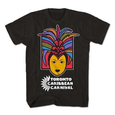 Toronto Caribbean Carnival Adult T-Shirt, Black, Caribbean Queen - (S, M, L, XL, XXL)