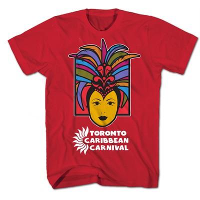Toronto Caribbean Carnival Adult T-Shirt, Red, Caribbean Queen - (S, M, L, XL, XXL)