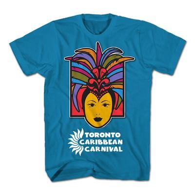 Toronto Caribbean Carnival Adult T-Shirt, Turquoise, Caribbean Queen - (S, M, L, XL, XXL)