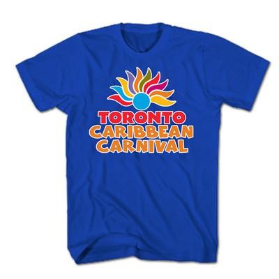 Toronto Caribbean Carnival Adult T-Shirt, Blue, Arch Logo - (S, M, L, XL, XXL)