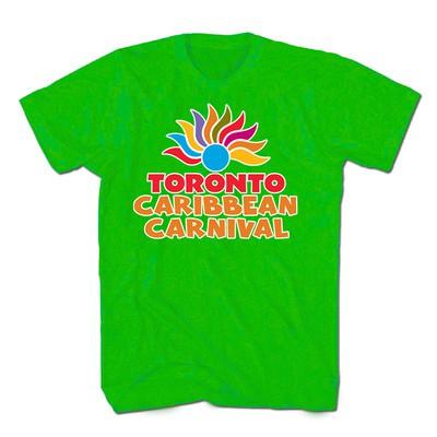 Toronto Caribbean Carnival Adult T-Shirt, Lime Green, Arch Logo - (S, M, L, XL, XXL)