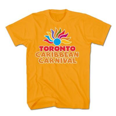 Toronto Caribbean Carnival Adult T-Shirt, Orange, Arch Logo - (S, M, L, XL, XXL)