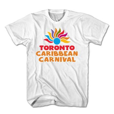 Toronto Caribbean Carnival Adult T-Shirt, White, Arch Logo - (S, M, L, XL, XXL)