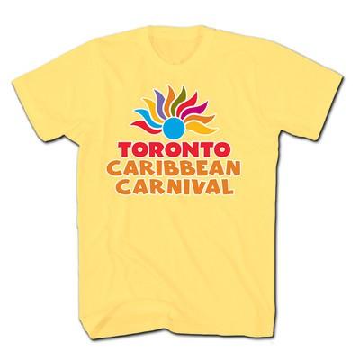 Toronto Caribbean Carnival Adult T-Shirt, Yellow, Arch Logo - (S, M, L, XL, XXL)